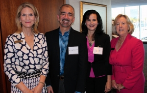 Courtney McLain (from left), director of annual giving with the CHRISTUS Spohn Foundation; Dr. Hugo Tolentino; Maryellen Tolentino; and Linda Arnold, director of development with the foundation.