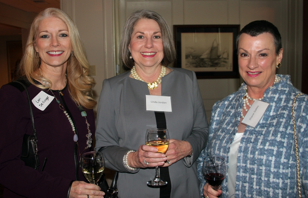 Lori Dellinger (from left), Linda K. Jordan and Diane Gates.