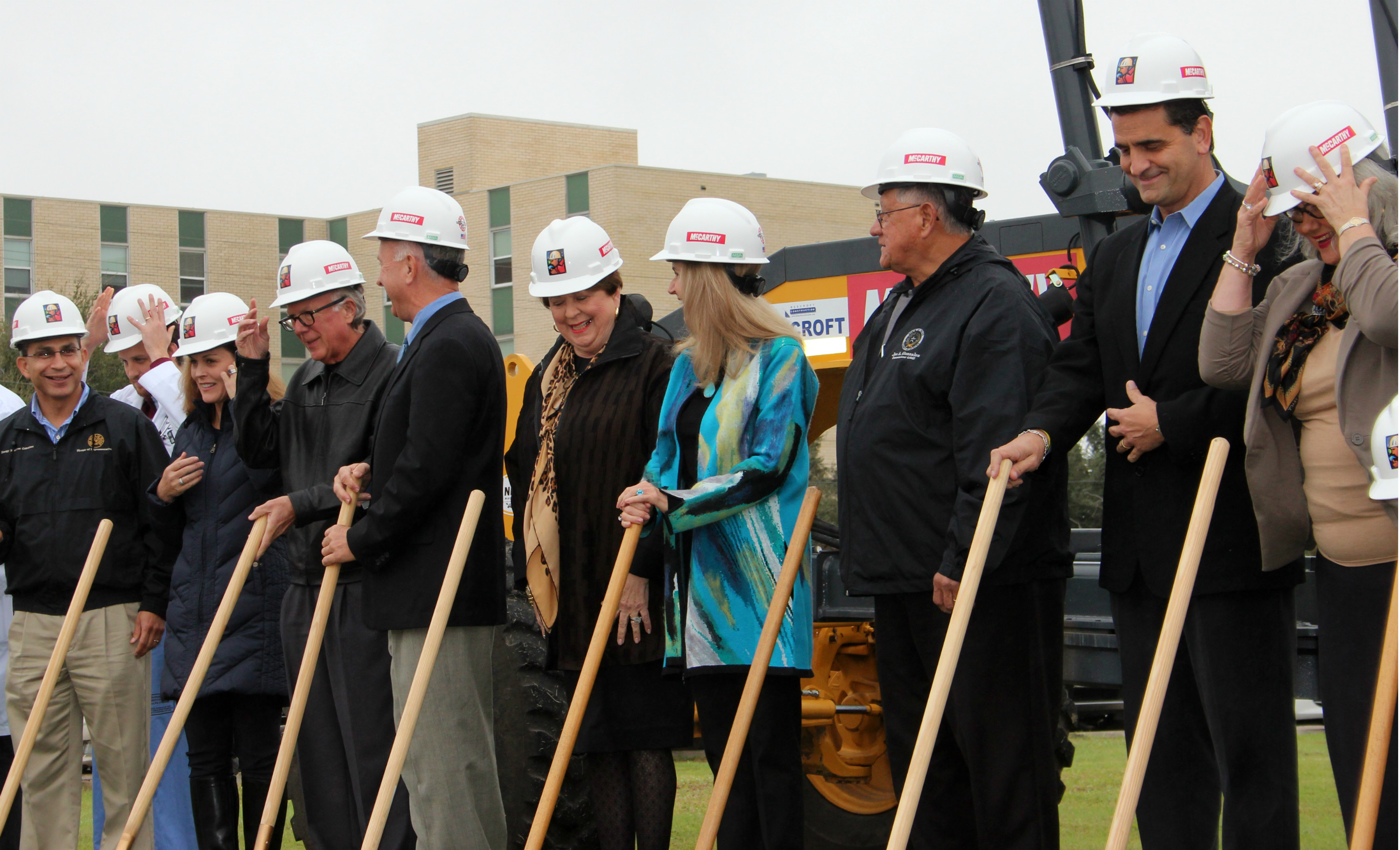 Members of the CHRISTUS Spohn Executive Team, the CHRISTUS Spohn Foundation Board of Directors and city of Corpus Christi and Nueces County officials attend a groundbreaking for the Dr. Hector P. Garcia Memorial Family Health Center.