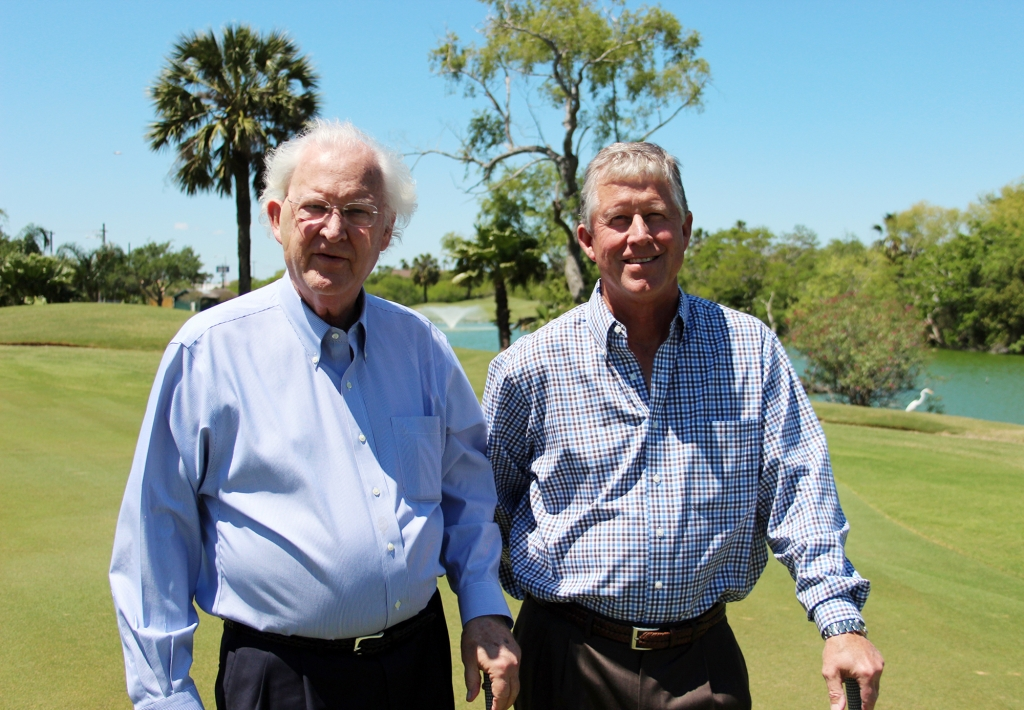 Rick Rogers (left) and Ham Rogers at one of their favorite places -- Corpus Christi Country Club.